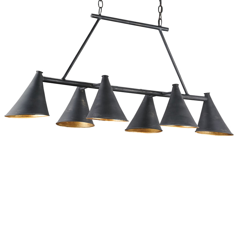 Currey & Co Culpepper Rectangular Chandelier
