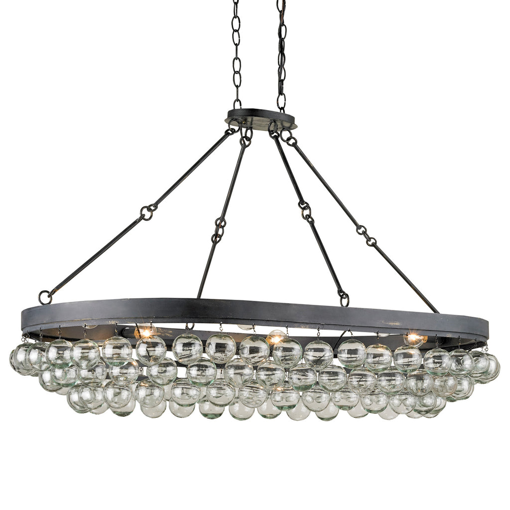 Currey & Co Balthazar Oval Ceiling Mount Chandelier