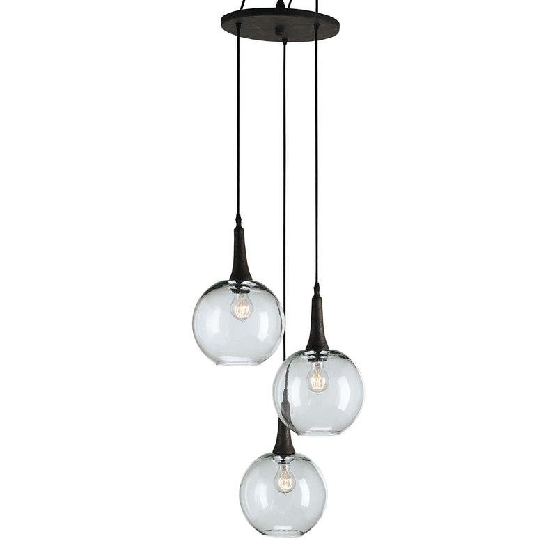 Currey & Co Beckett Trio Pendant