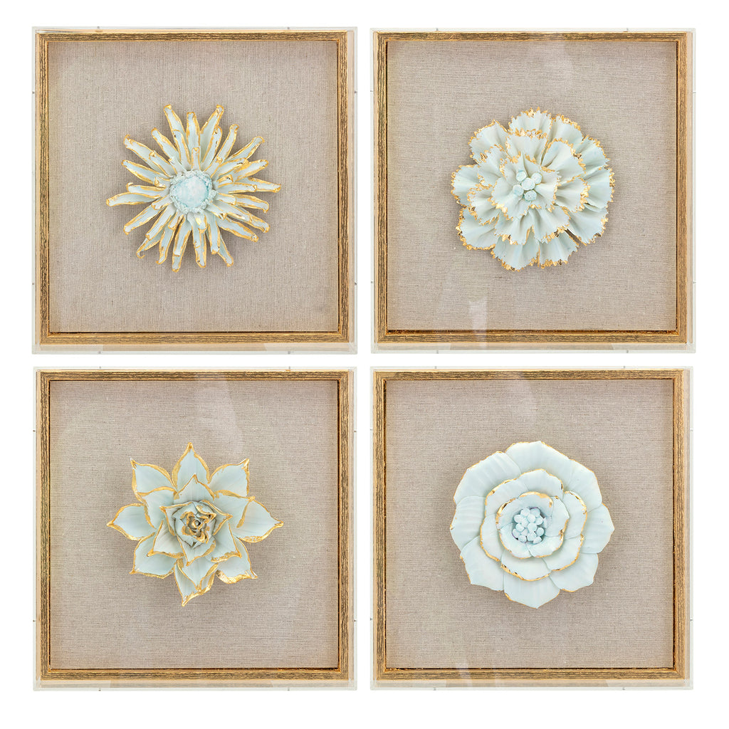 Jada Porcelain Framed Wall Art Set of 4