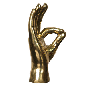 Noir Ok Sign Hand Decorative Object