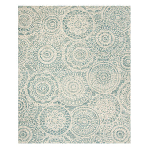 Alta Medallion Blue Hand Tufted Rug