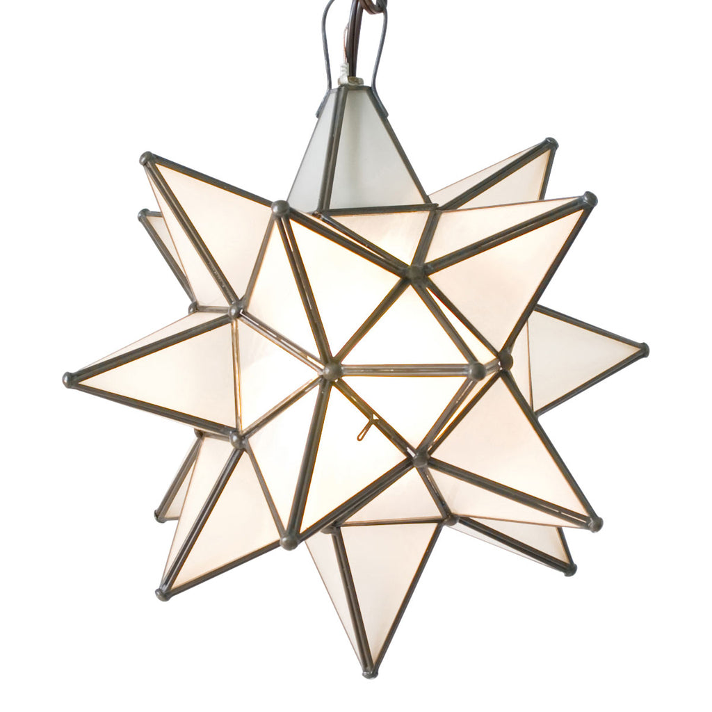 Worlds Away Star Frosted Chandelier