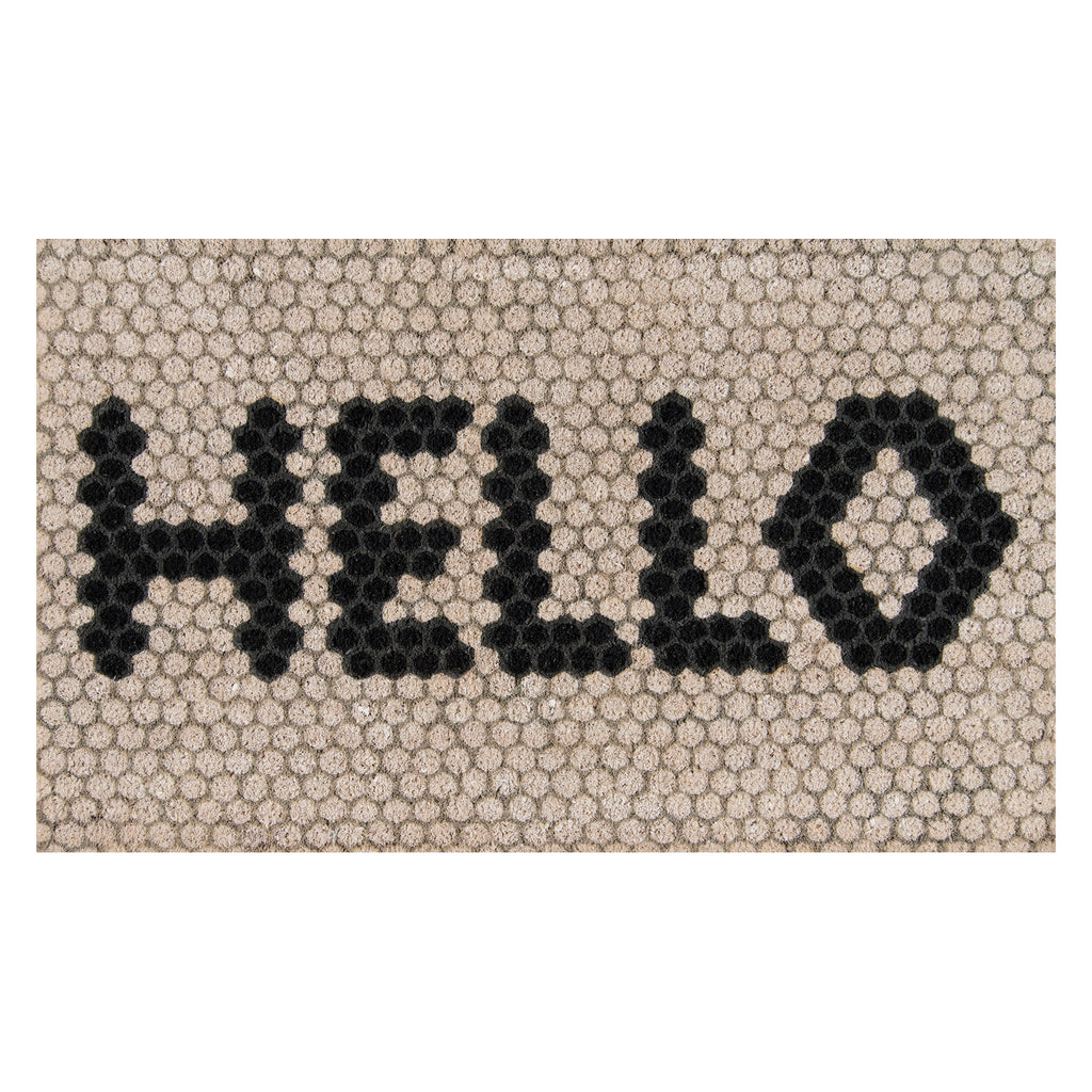 Hello Hex Door Mat