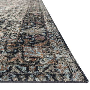 Loloi Anastasia Charcoal/Sunset Power Loomed Rug