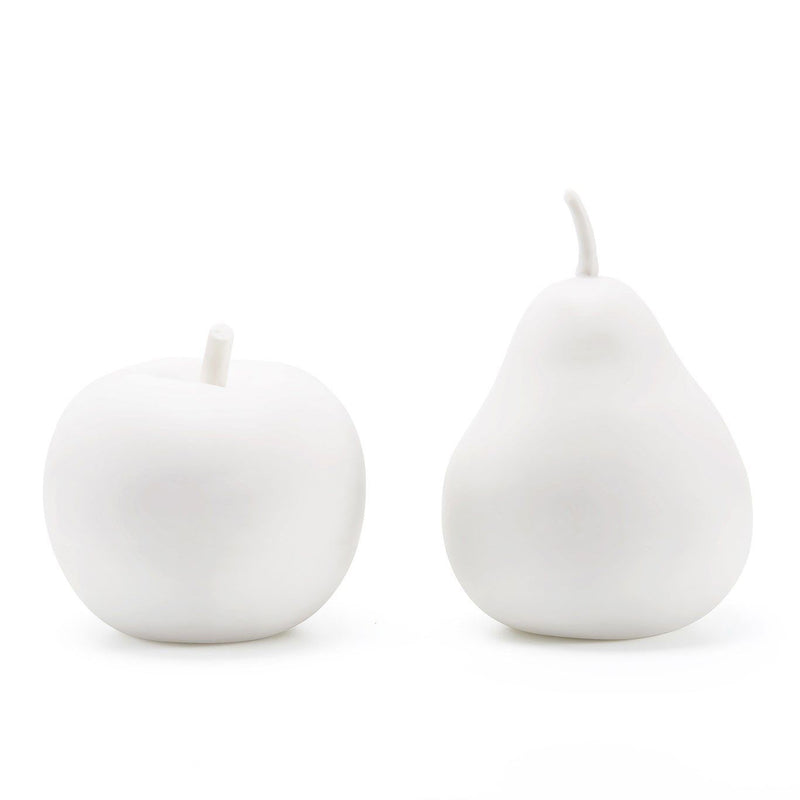 Bungalow 5 Apple & Pear Porcelain Decorative Object Set of 2