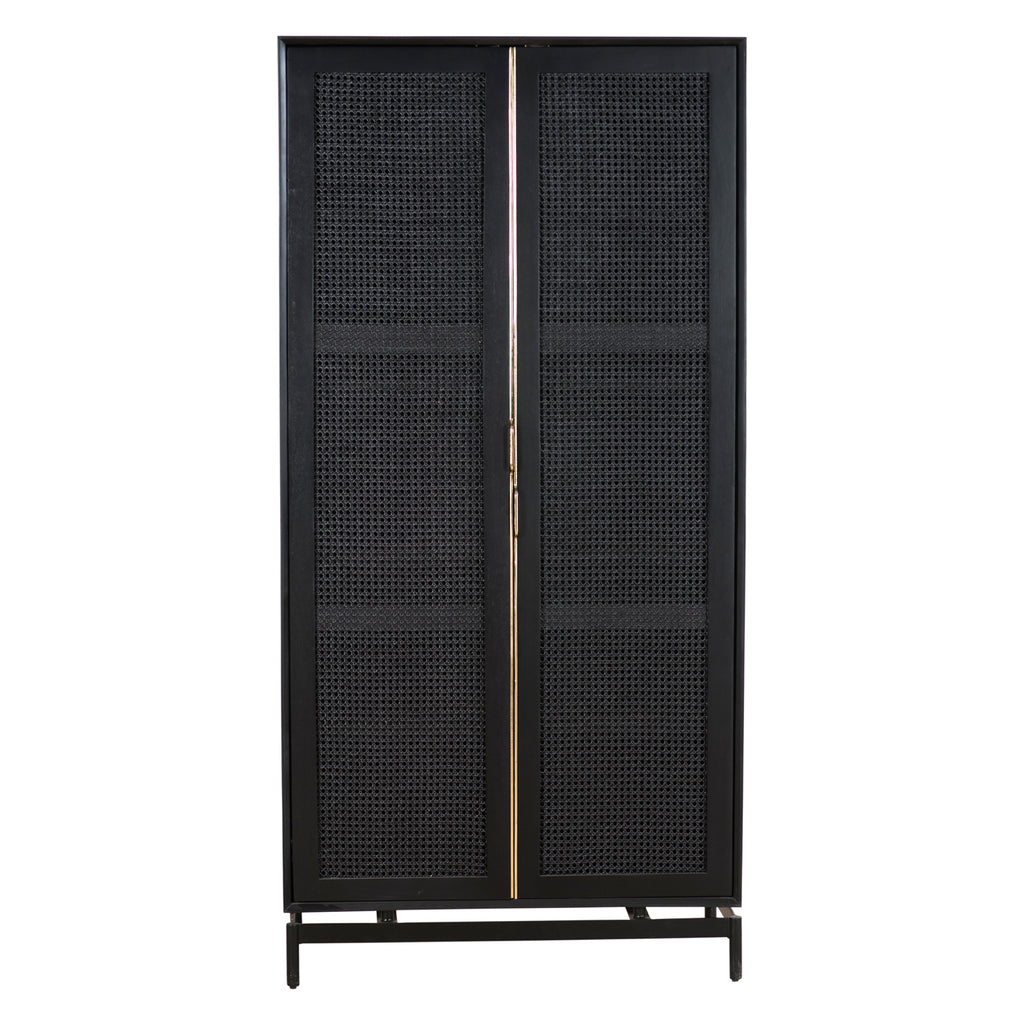 Union Home Louisiana Cabinet Black with Brass