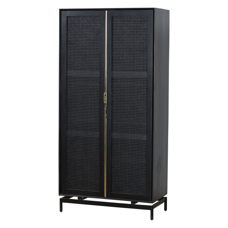 Union Home Louisiana Black Cabinet