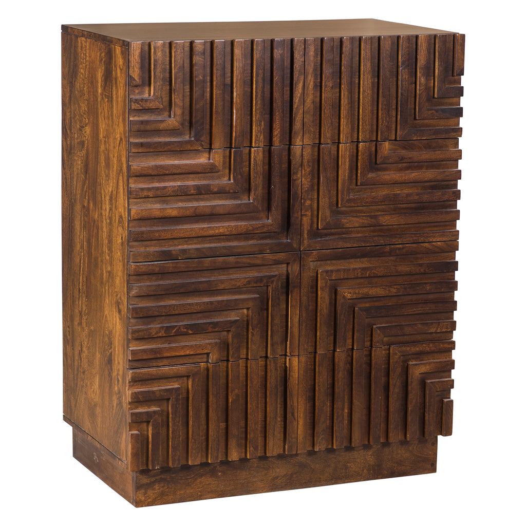 Union Home Maze Wood Tall Chest
