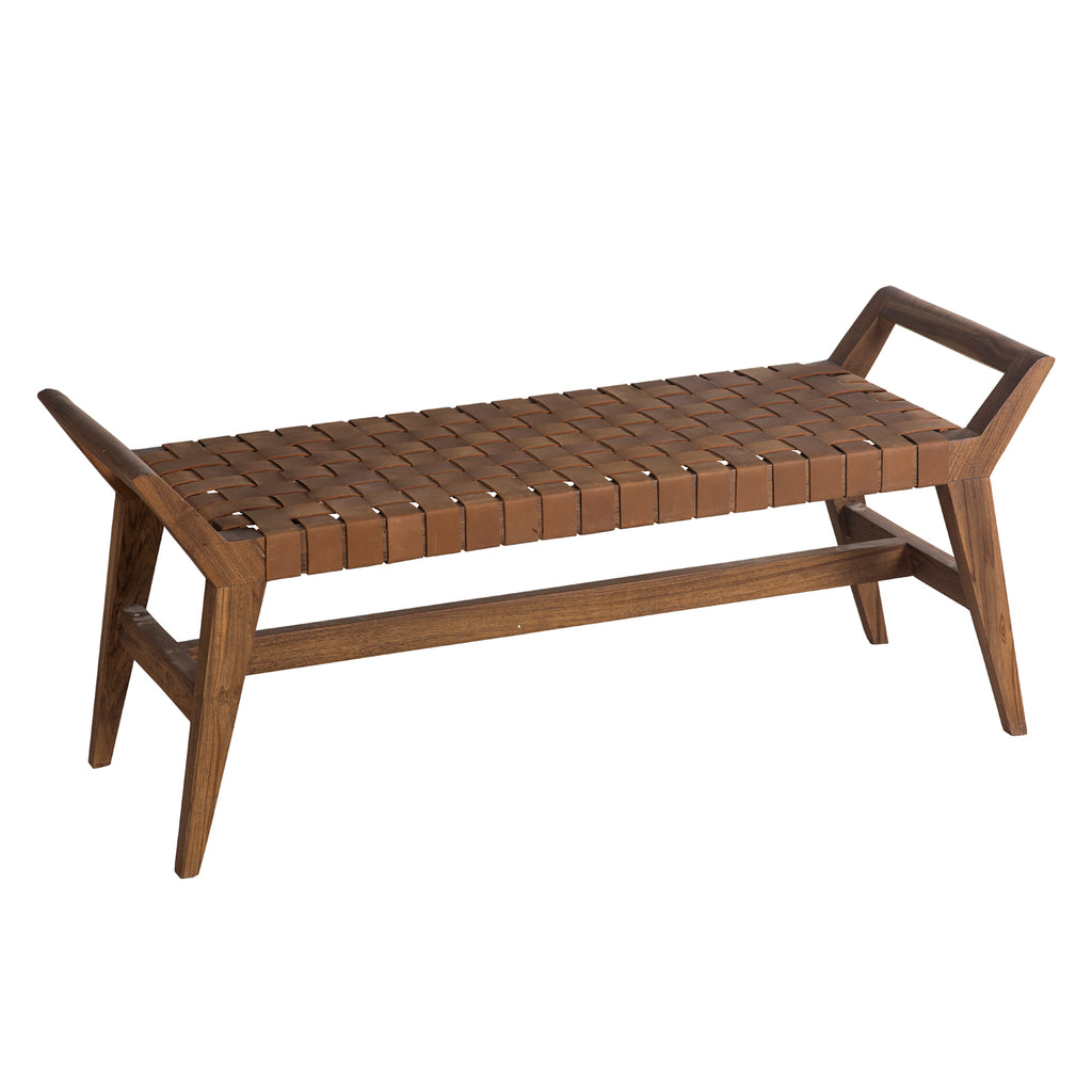 Union Home Cove Leather Bench
