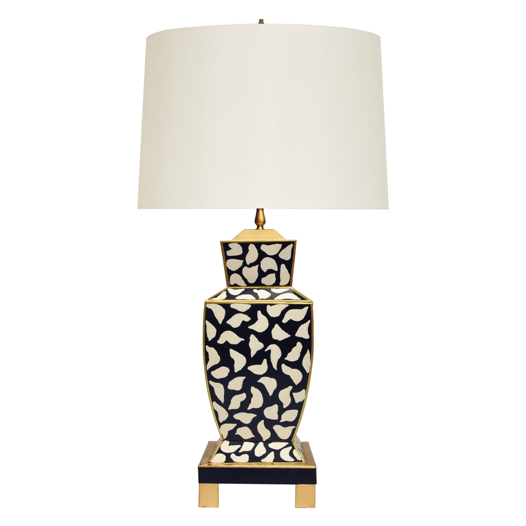 Worlds Away Bianca Leopard Table Lamp