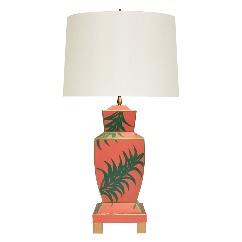 Worlds Away Bianca Palm Table Lamp