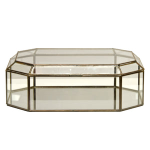 Worlds Away Clear Octagonal Box