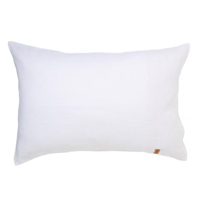 Kip & Co Bright White Linen Pillowcase Set of 2