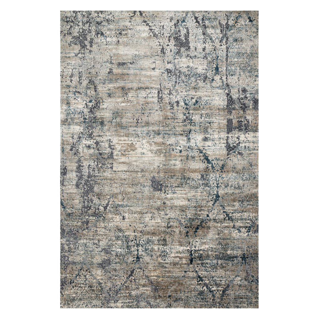 Loloi Cascade Taupe/Blue Power Loomed Rug