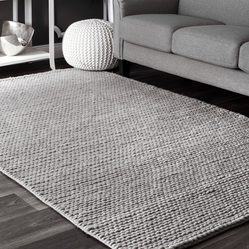 Chunky Cable Hand Woven Rug