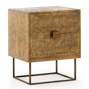 Bungalow 5 Cubic 2 Drawer Side Table