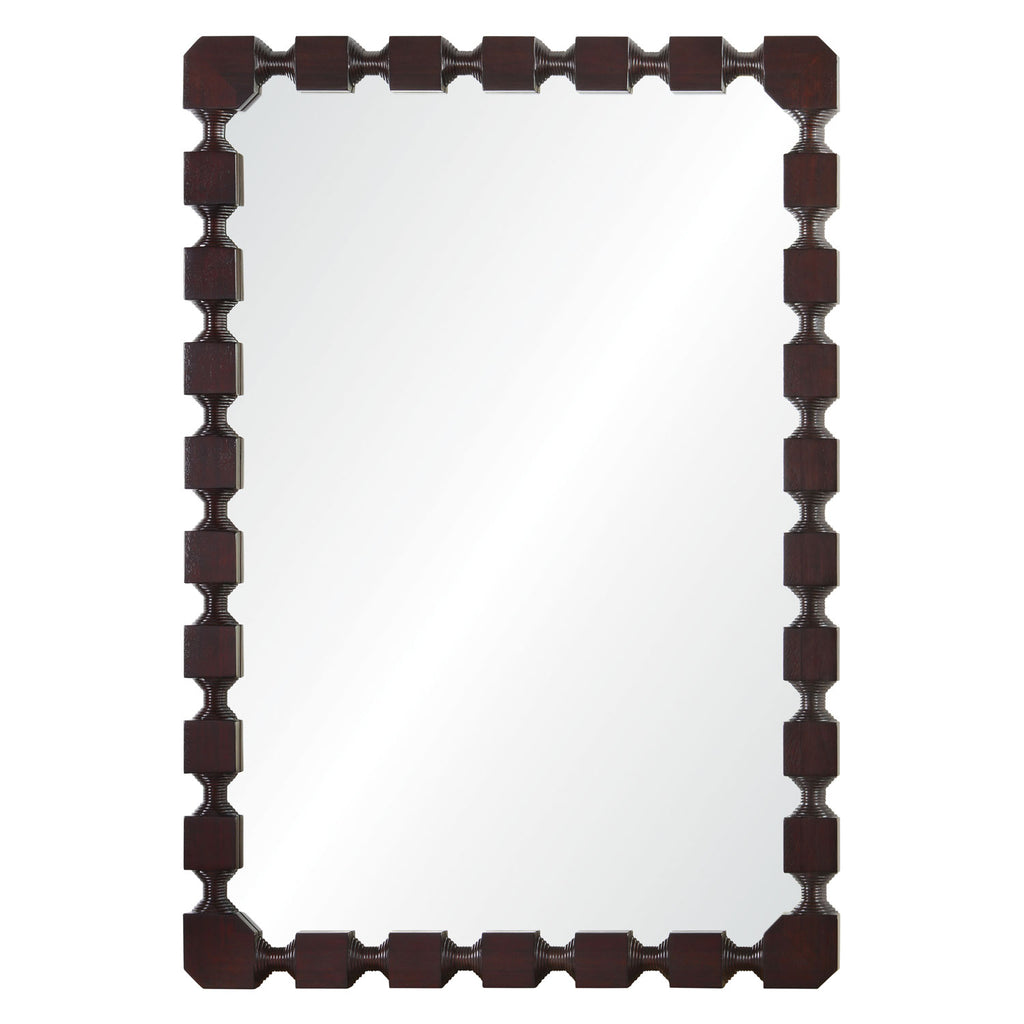 Celerie Kemble for Mirror Image Home Mahogany Wall Mirror
