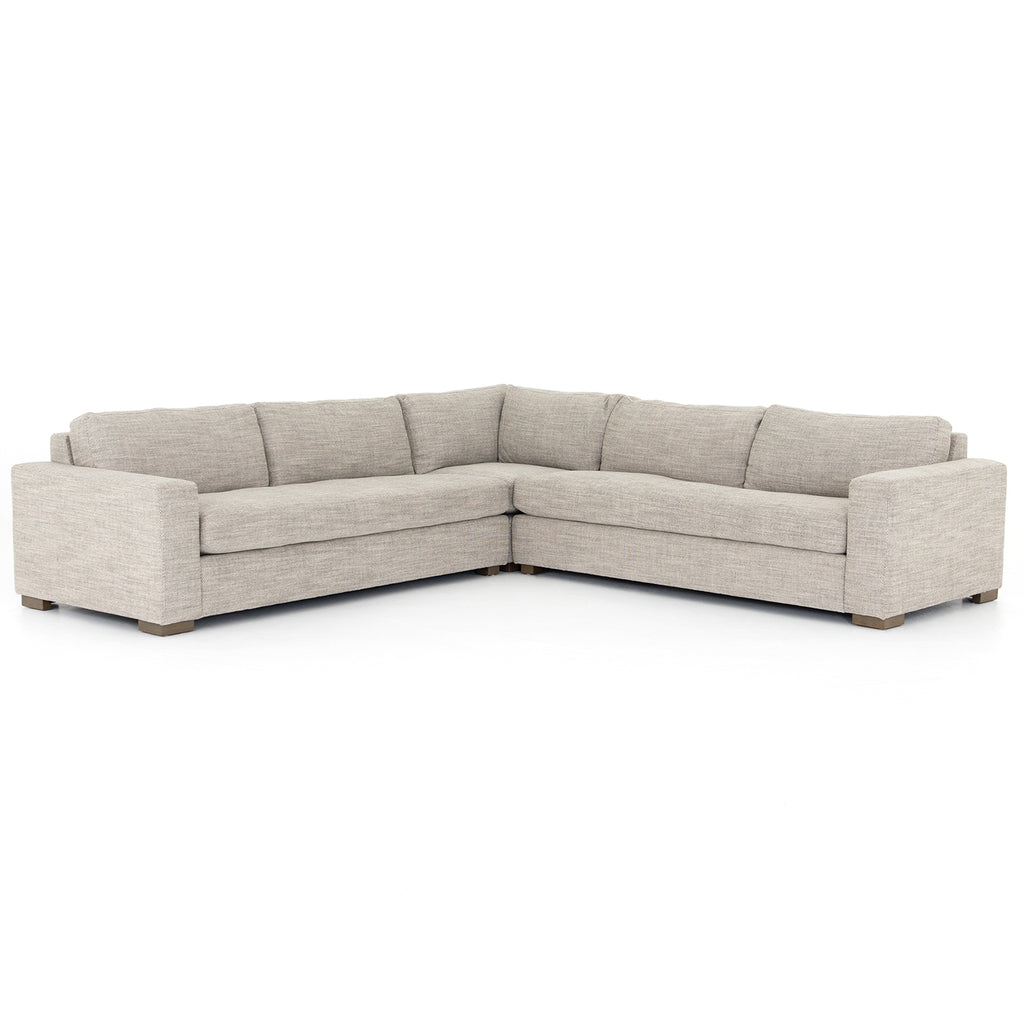 Four Hands Boone 3 Piece Small Sectional Sofa