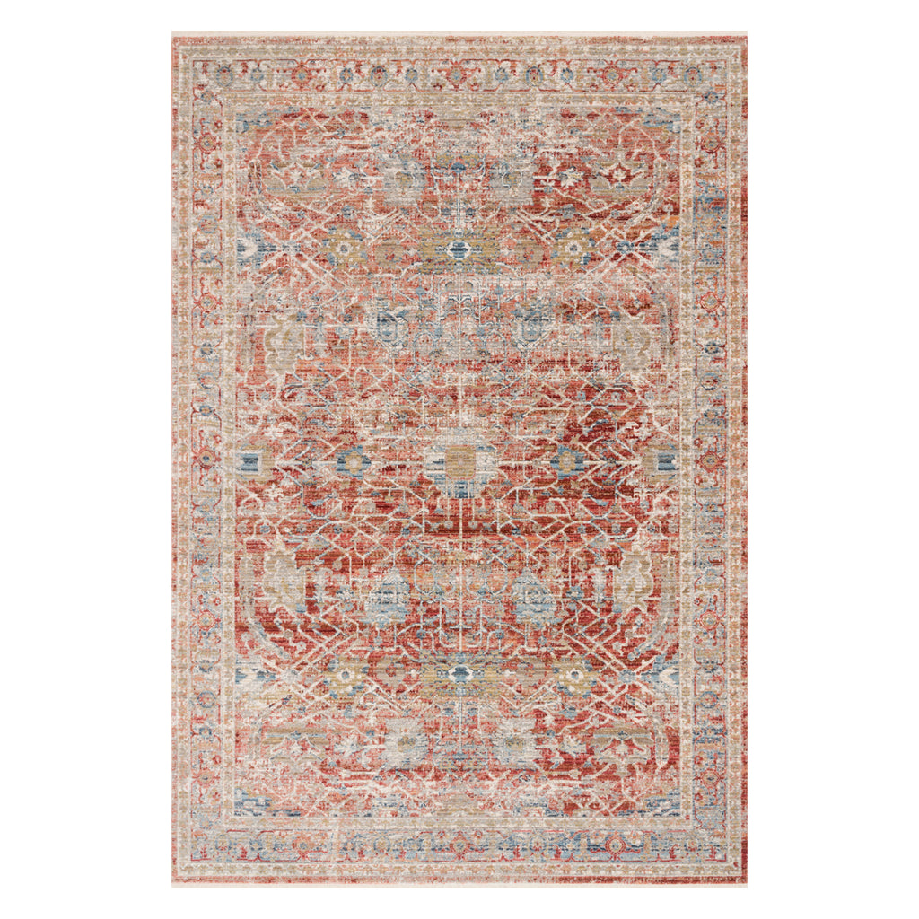 Loloi Claire Red/Ivory Power Loomed Rug