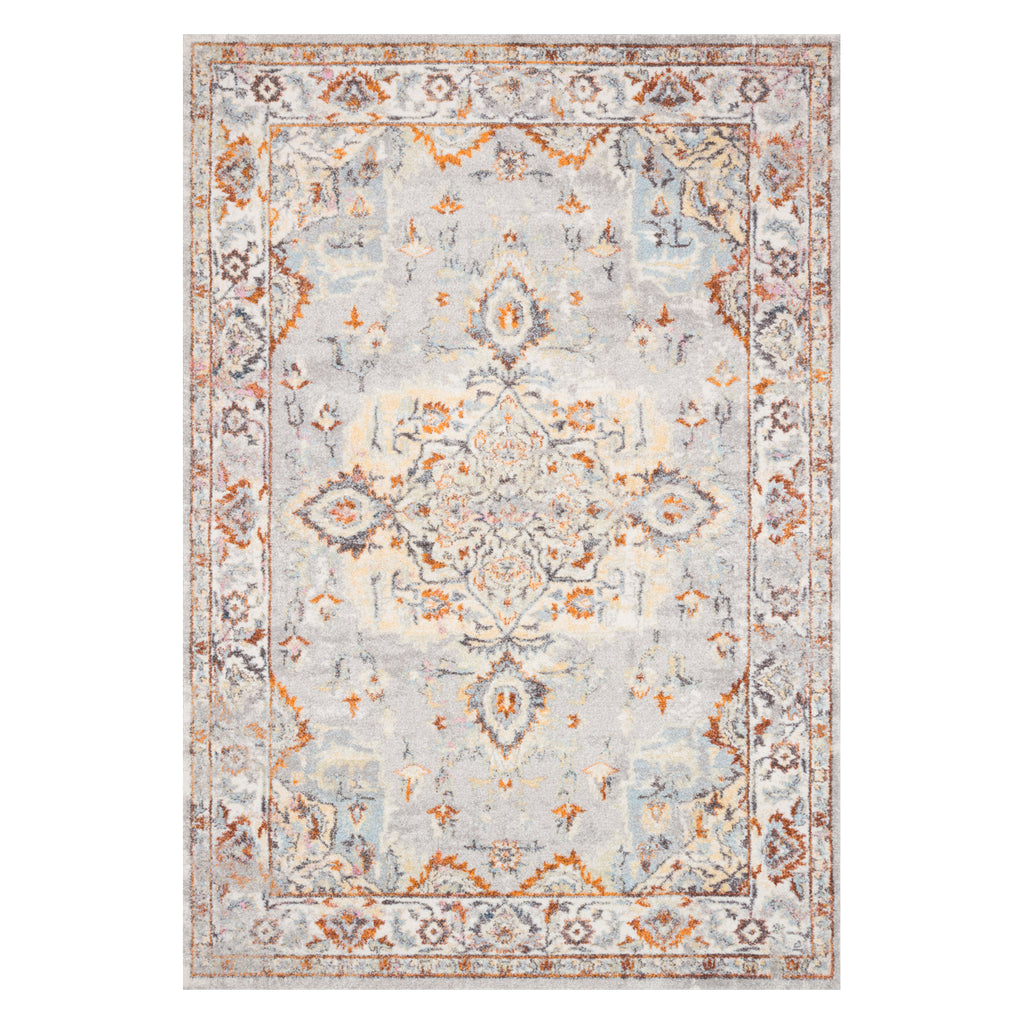 Loloi Clara Gray/Ivory Power Loomed Rug