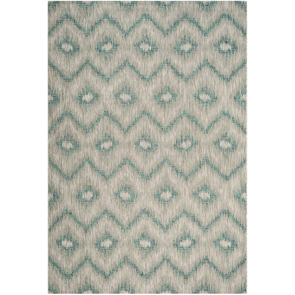 Riverine Wave Blue Indoor/Outdoor Rug