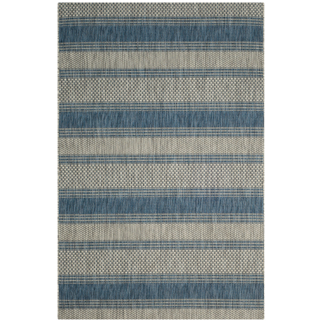 Riverine Banded Gray Indoor/Outdoor Rug