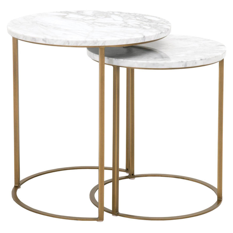 Carrera Round Nesting Accent Table Set of 2