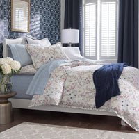 Peacock Alley Chloe Floral Percale Duvet Cover