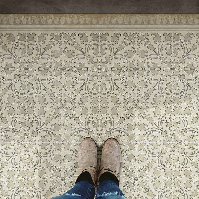 Pattern 21 - The White Rabbit Vinyl Floorcloth