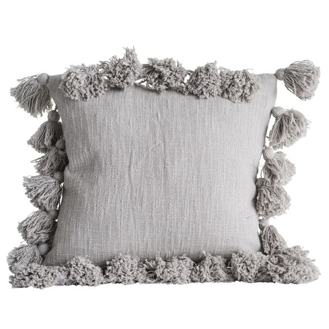 Laurel Tassel Throw Pillow