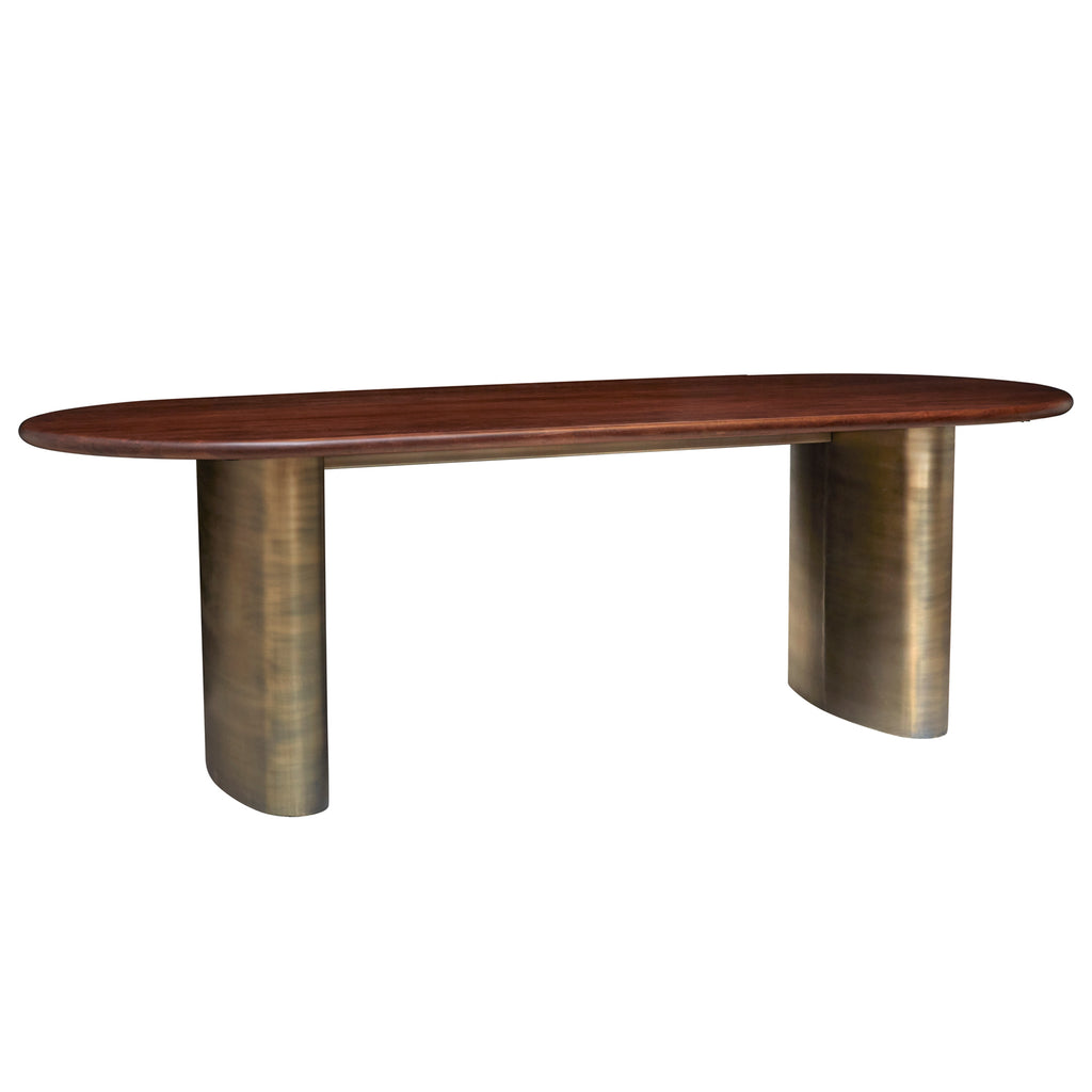 Union Home Ovale Antique Brass Dining Table