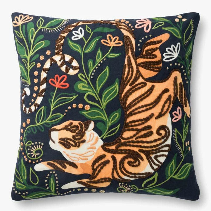 Justina Blakeney × Loloi JB Tiger Throw Pillow Set of 2