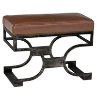 Redford House Domingo Leather Bench