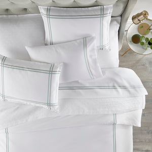 Peacock Alley Duo Striped Sateen Duvet Cover