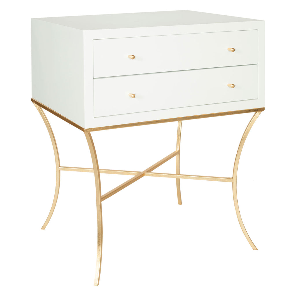Worlds Away Elena Side Table