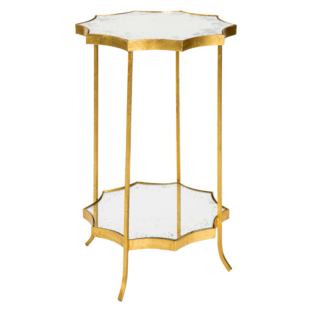 Aidan Gray Astre Gold Mirror Side Table