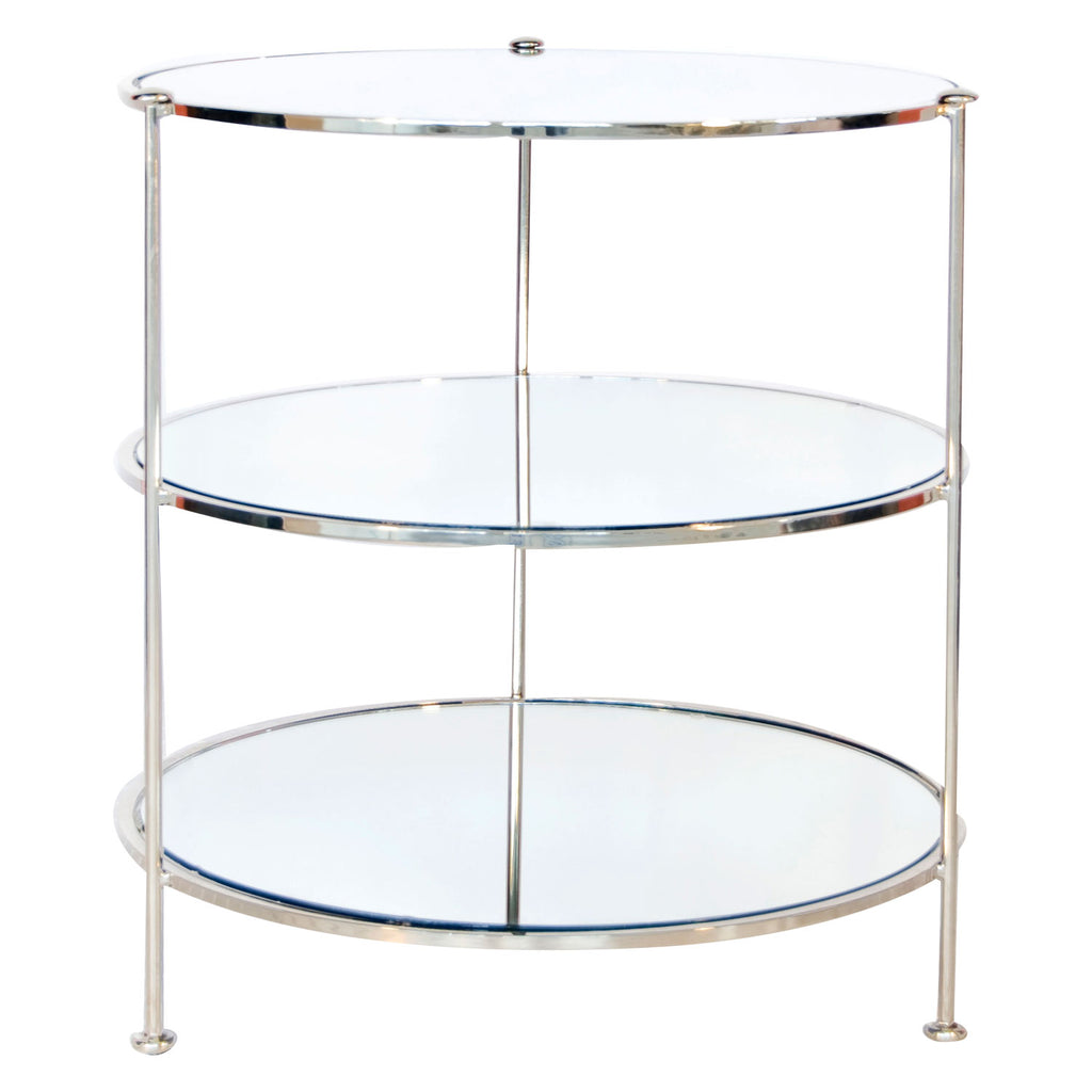 Worlds Away 3-Tier Side Table