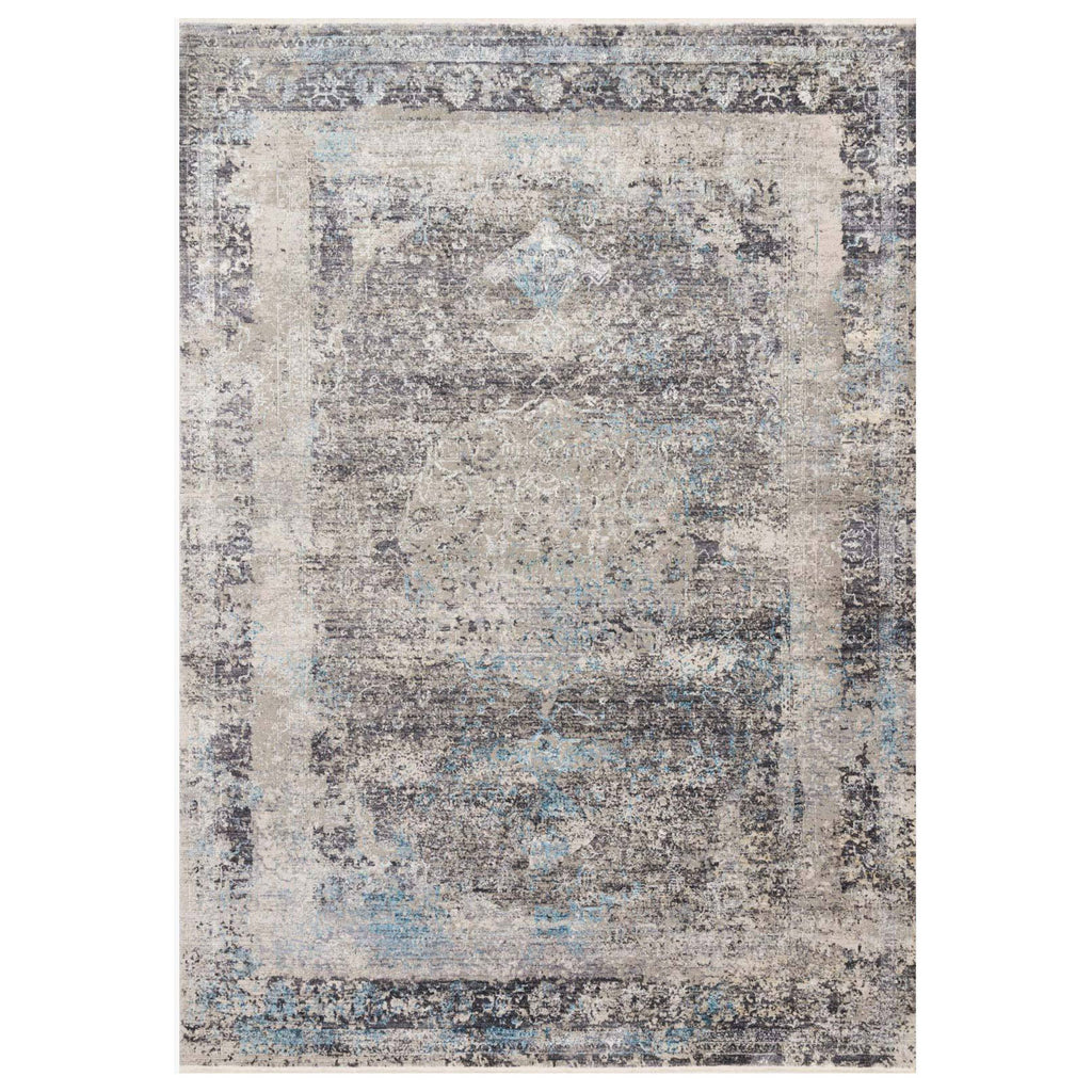 Loloi Franca Charcoal/Sky Power Loomed Rug