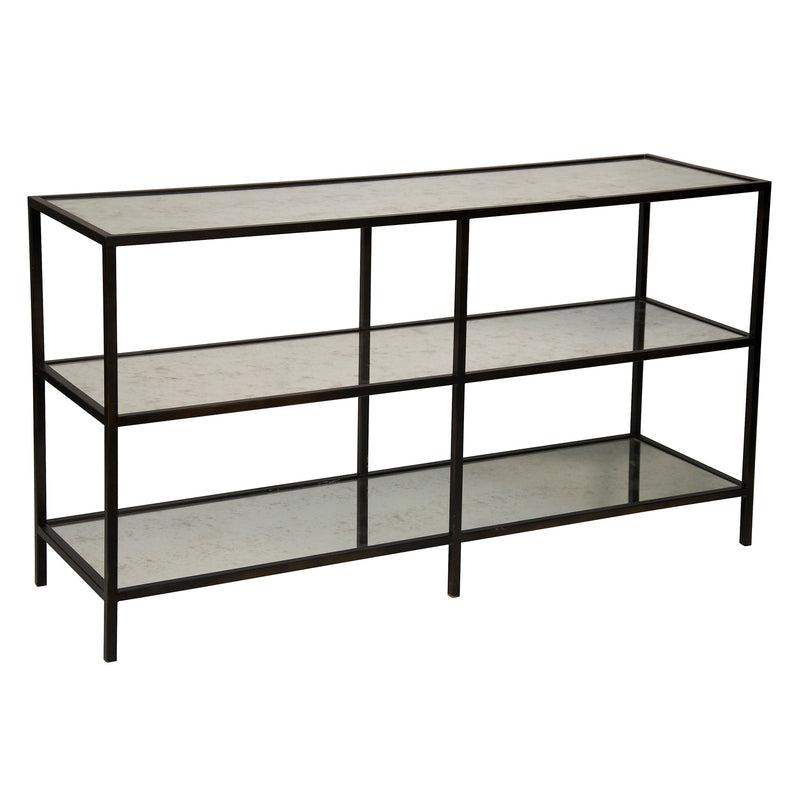 Noir 3 Tier Console Table