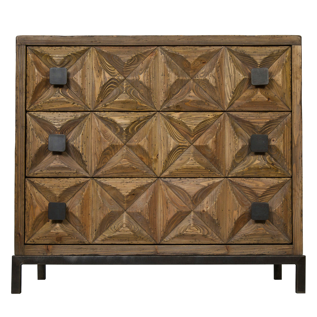 Noir Jones 3 Drawer Chest