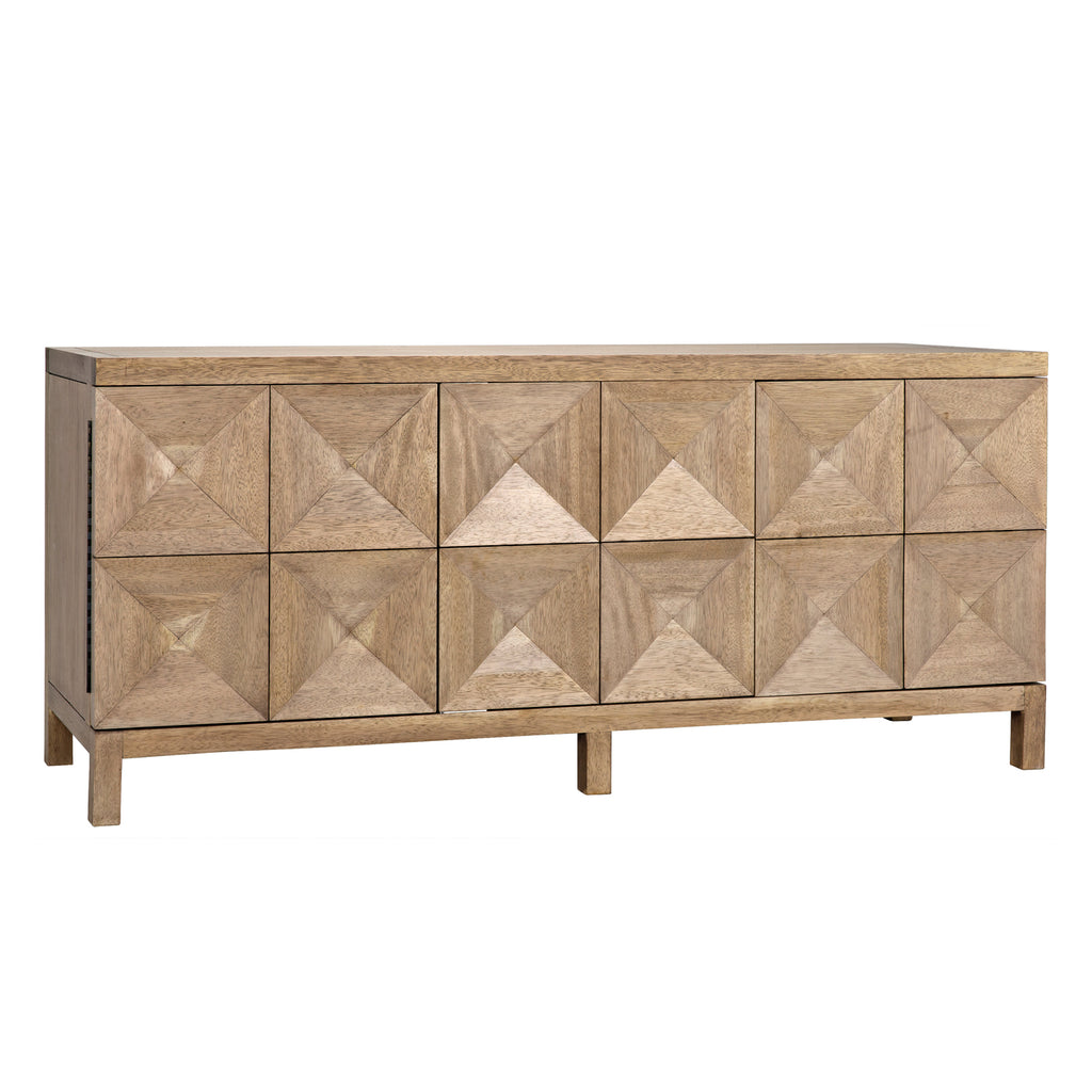 Noir Quadrant 3 Door Sideboard
