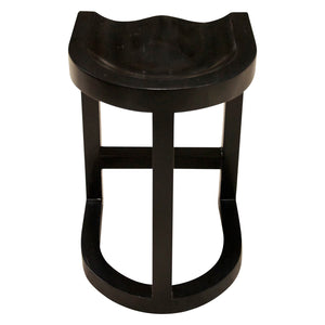 Noir Saddle Hand Rubbed Black Counter Stool