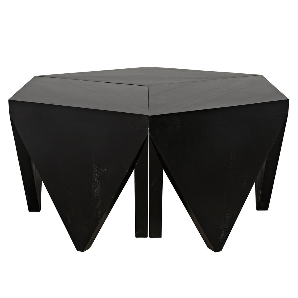 Noir Cassandra Puzzle Coffee Table