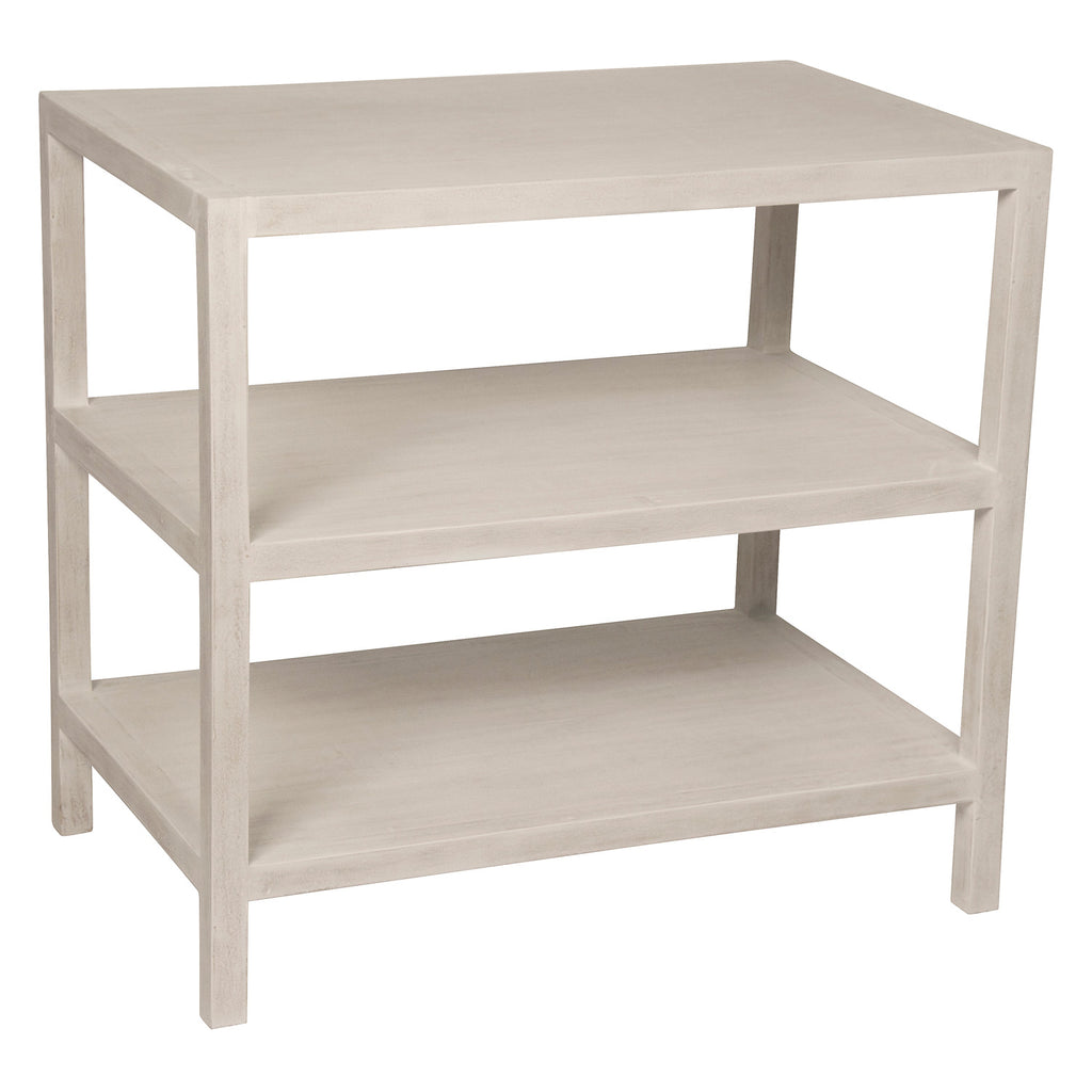 Noir 2 Shelf Side Table