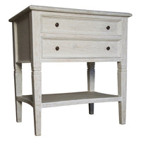 Noir Oxford 2-Drawer Side Table