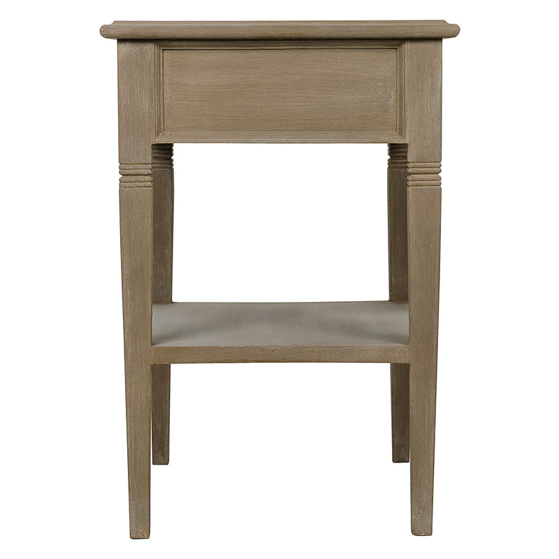Noir Oxford 1-Drawer Side Table