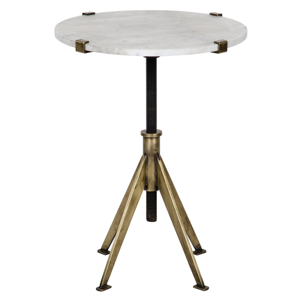 Noir Edith Adjustable Side Table