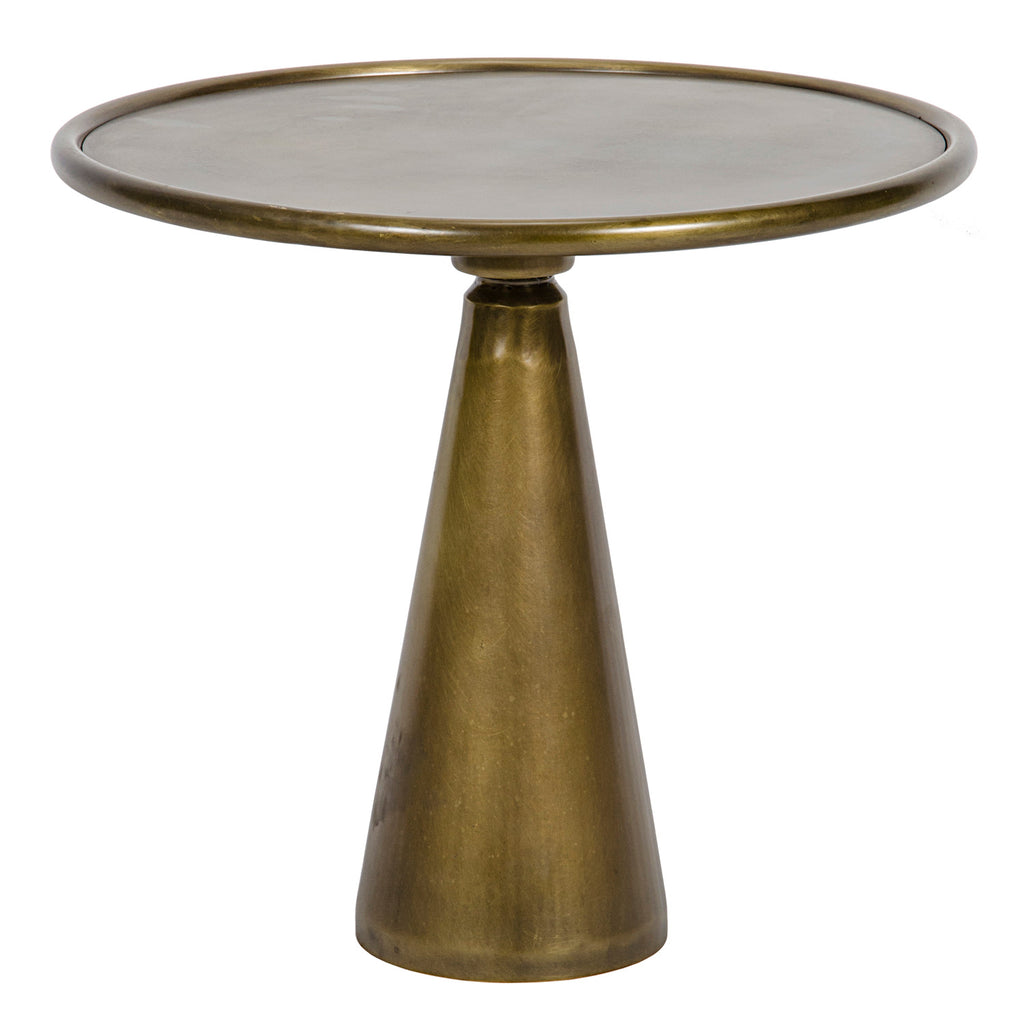 Noir Hiro Antique Brass Short Side Table