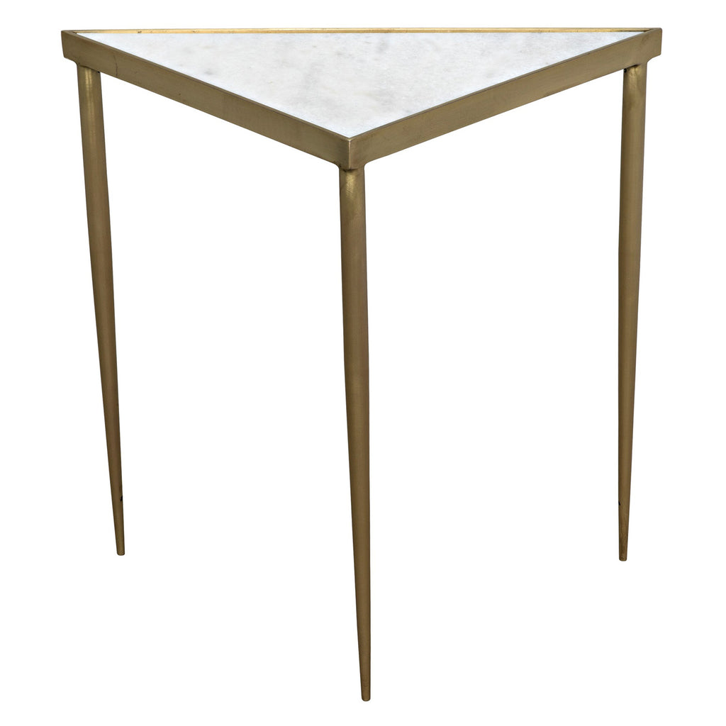 Noir Comet Triangle Side Table